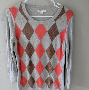 Banana Republic argyle Angora sweater